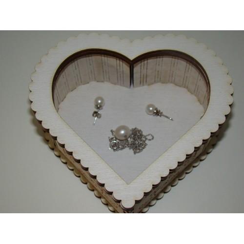 Šperkovnica v tvare srdce